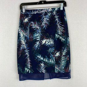 CLUB MONACO Leaf Print Skirt